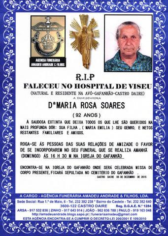 RIP- DE MARIA ROSA SOARES-92 ANOS (GAFANHÃO) (5).