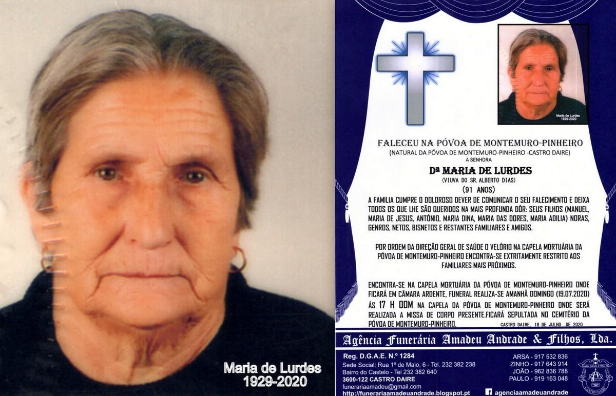 FOTO RIP DE MARIA DE LURDES-91 ANOS (PÓVOA DE MON