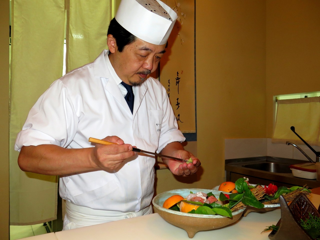 Tomoaki e o wasabi