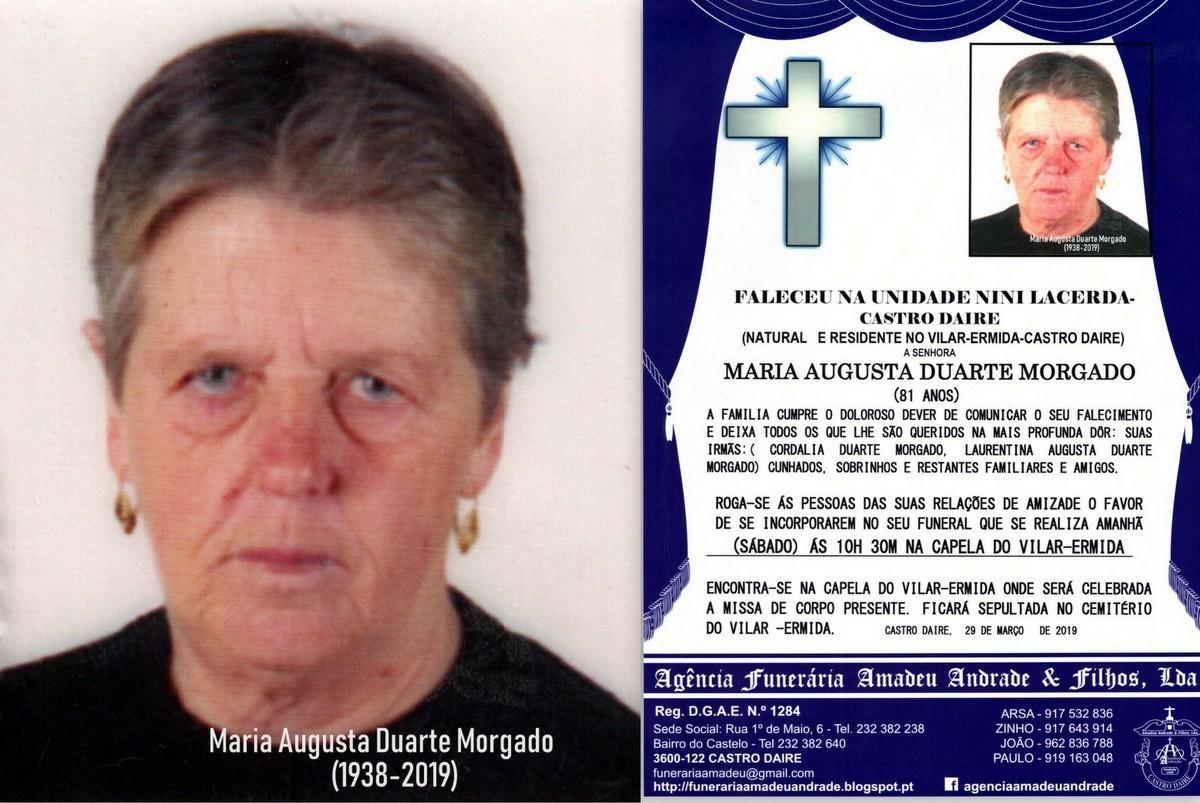 FOTO RIP  DE MARIA AUGUSTA DUARTE MORGADO- 81 ANOS