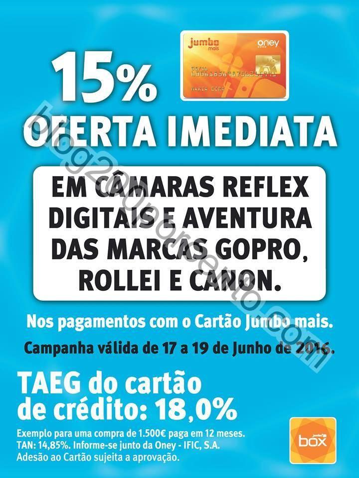 15% de desconto JUMBO - BOX promoções de 17 a 19