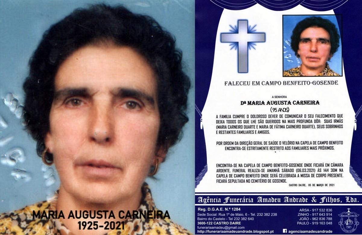 FOTO RIP DE MARIA AUGUSTA CARNEIRA-95 ANOS (CAMPO
