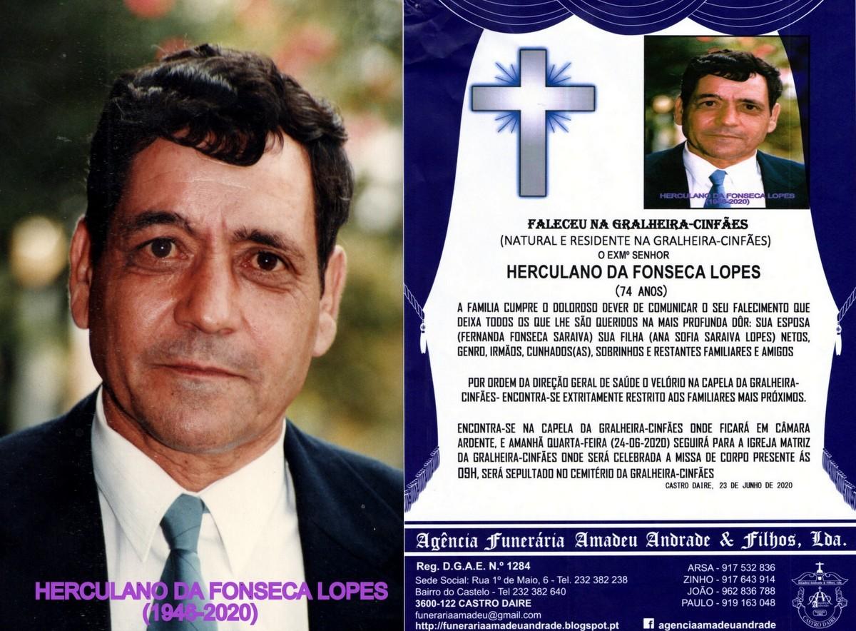 FOTO RIP  DE HERCULANO DA FONSECA LOPES-74 ANOS (G