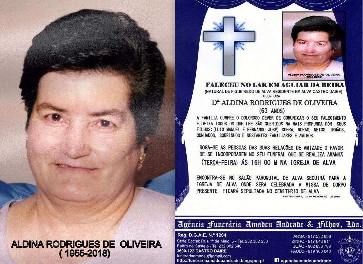 FOTO RIP  DE ALDINA RODRIGUES DE OLIVEIRA -63 ANOS