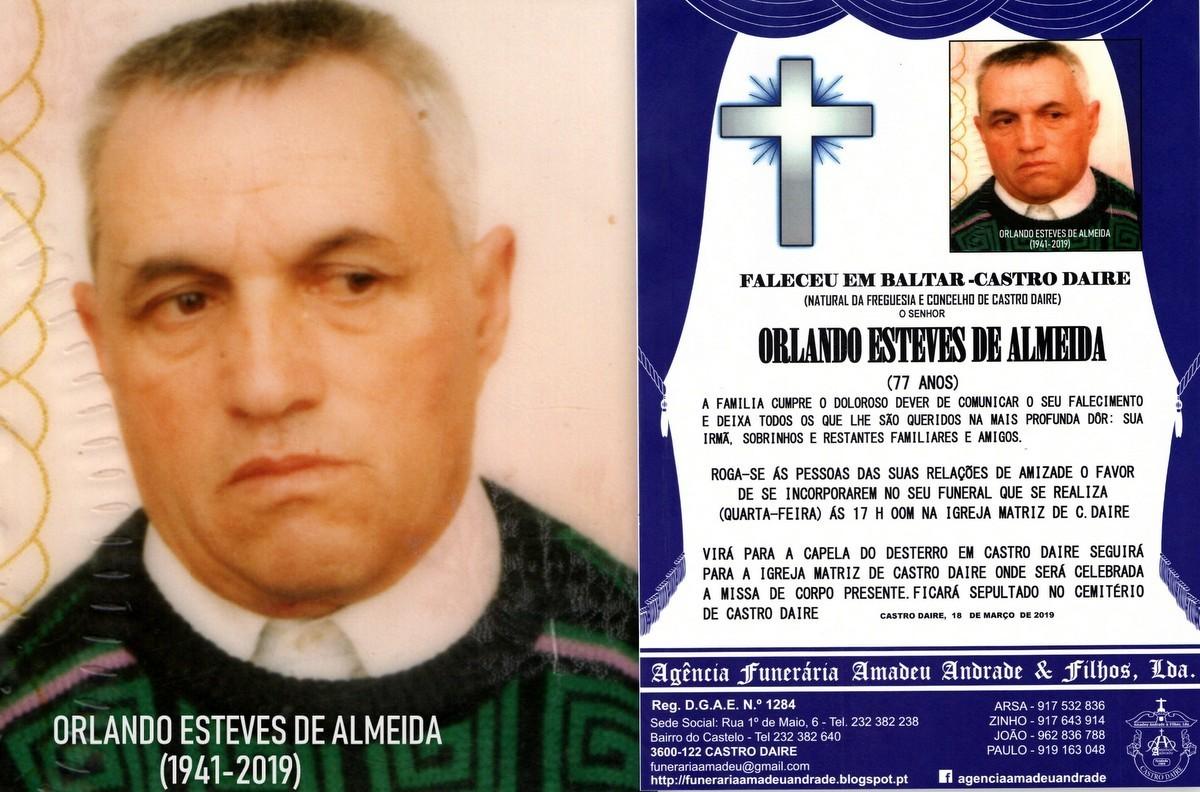 RIP2-ORLANDO ESTEVES DE ALMEIDA -77 ANOS (BALTAR D