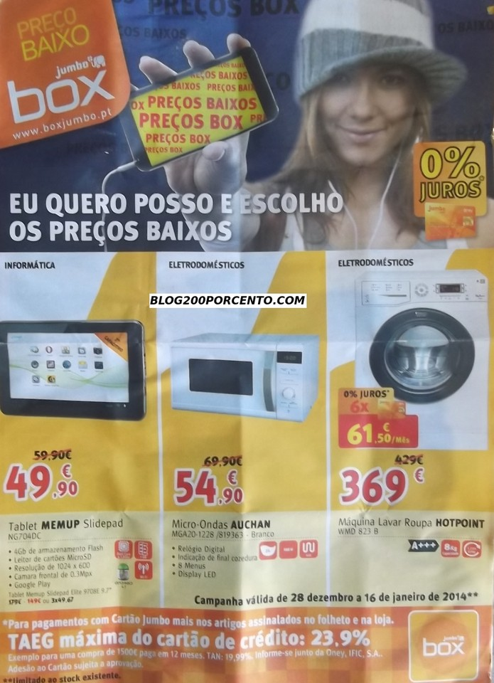 Saldos | BOX / JUMBO | até 16 Janeiro 2014