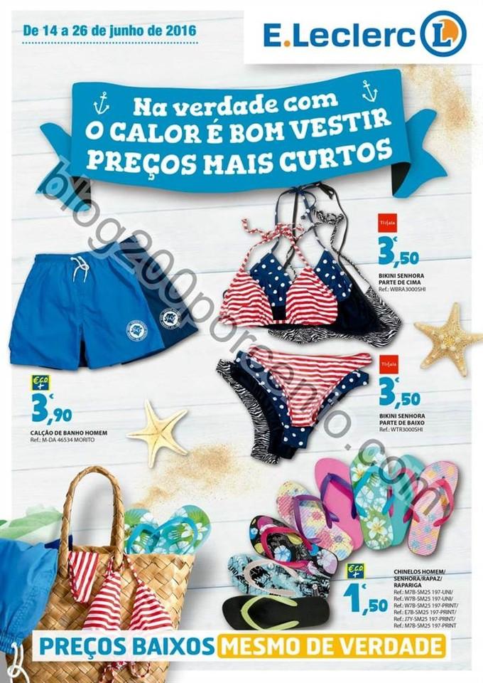 Antevisão Folheto E-LECLERC Verão promoções de