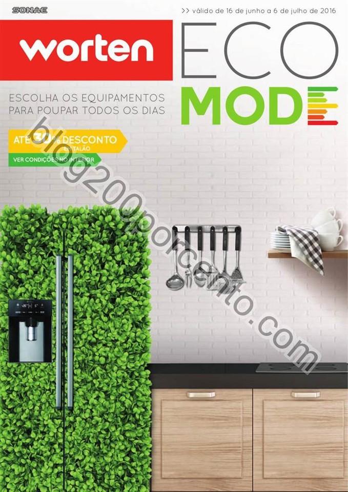Novo Folheto WORTEN Ecomode promoções de 16 junh