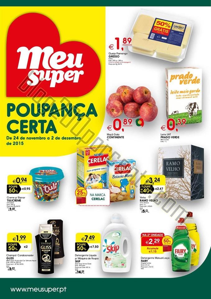 Antevisão Folheto MEU SUPER Promoções de 24 nov