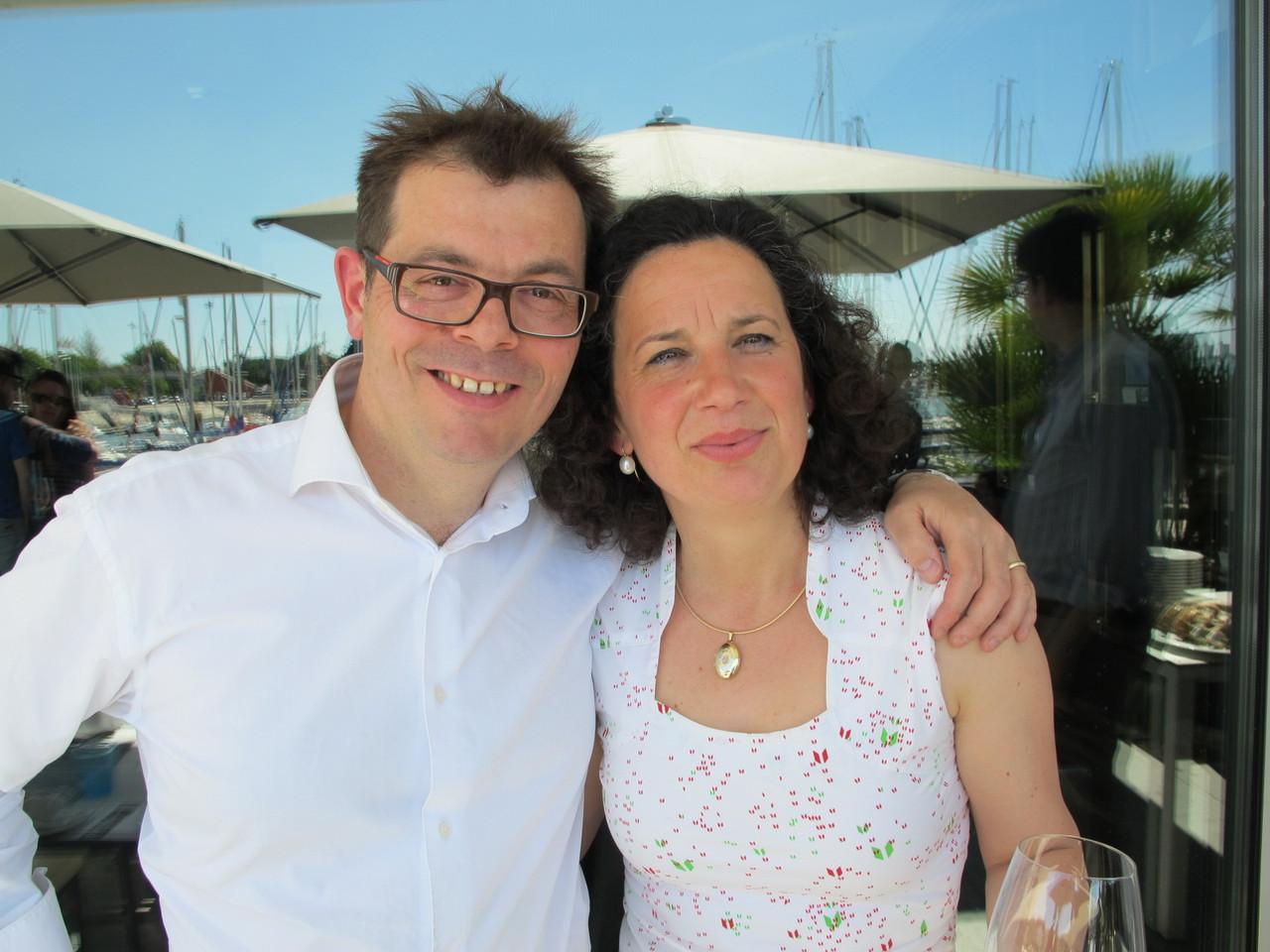 Michel van der Kroft e a mulher, portuguesa