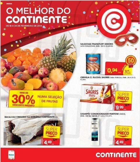 Novo Folheto   CONTINENTE   Carnaval de 18 fevereiro a 4 março