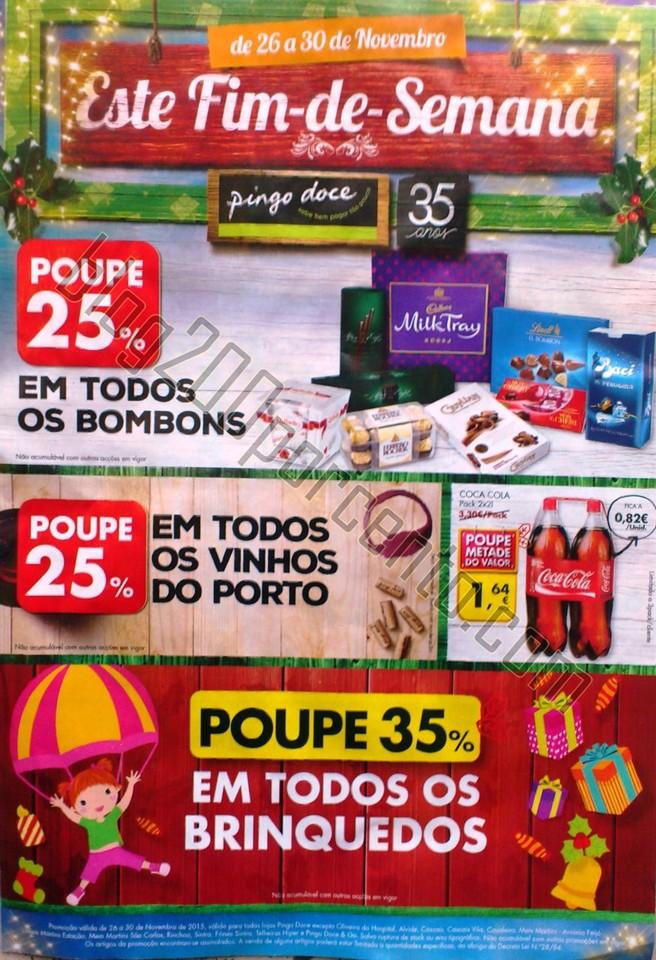Novo Folheto PINGO DOCE Fim de semana - 26 a 30 no