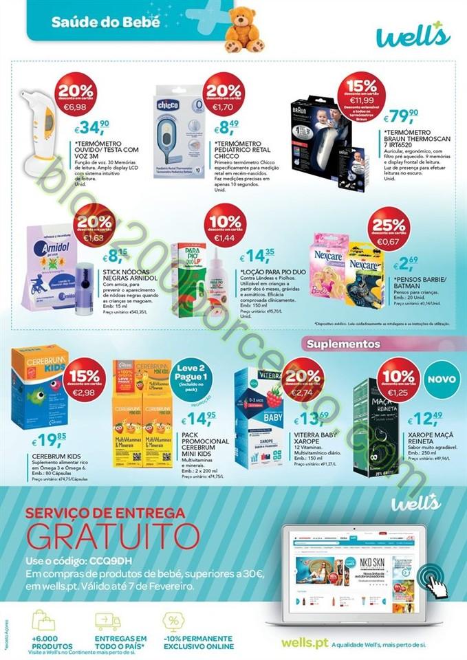 Novo Folheto WELLS Promoções de12 janeiro a 7 fe