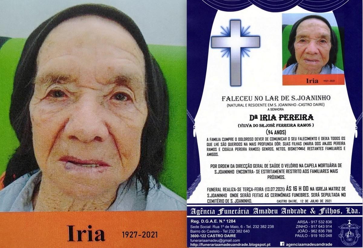 FOTO RIP  IRIA PEREIRA-94 ANOS (S.jpg