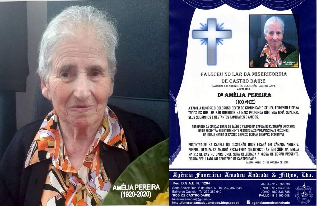 FOTO RIP AMÉLIA PEREIRA-100 ANOS (CUSTILHÃO-CAST