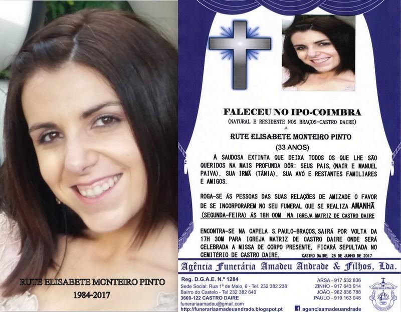 FOTO E RIP-DE RUTE ELISABETE MONTEIRO PINTO-33 ANO