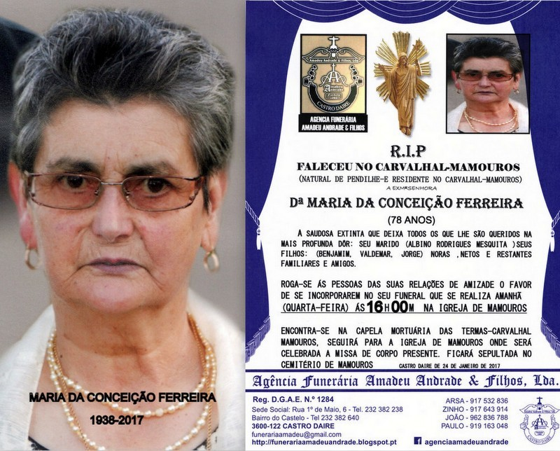 RIP-FOTO-MARIA DA CONCEIÇÃO FERREIRA-78 ANOS (CA