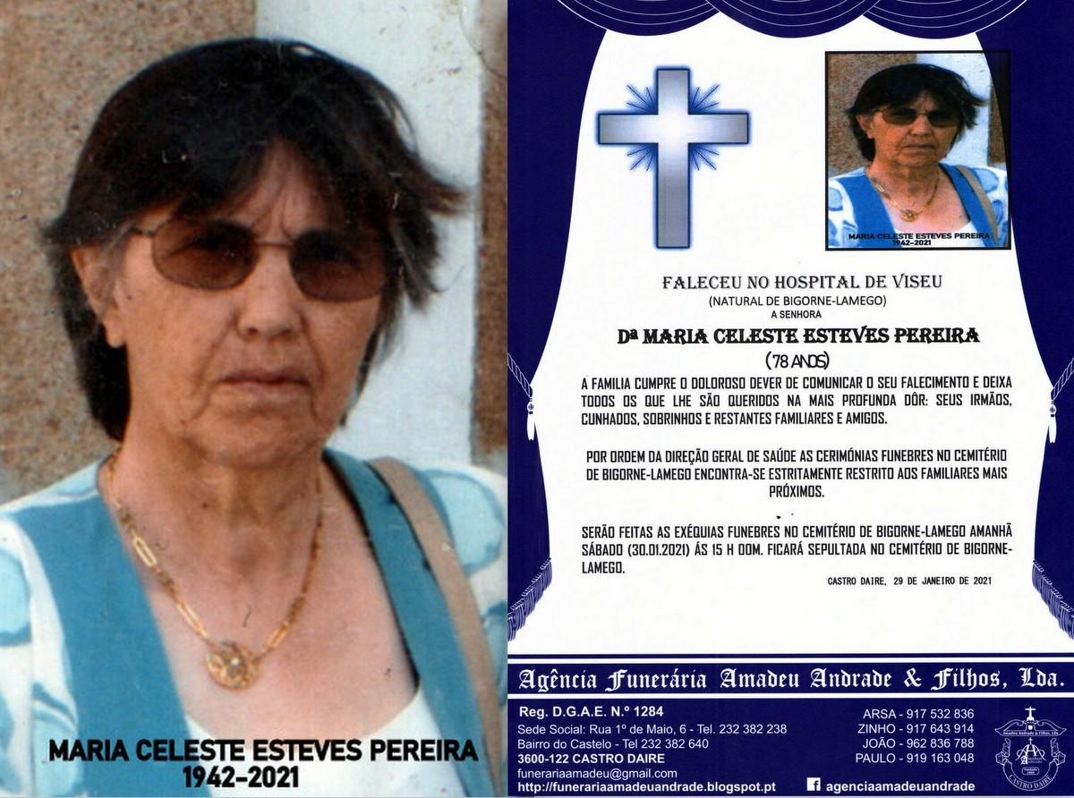 FOTO RIP  DE MARIA CELESTE ESTEVES PEREIRA-78 ANOS
