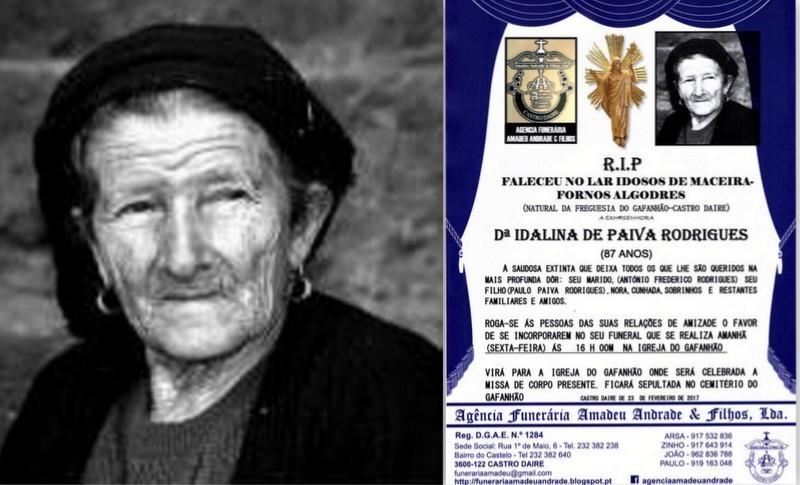 FOTO RIP-DE IDALINA DE PAIVA RODRIGUES -87 ANOS (G