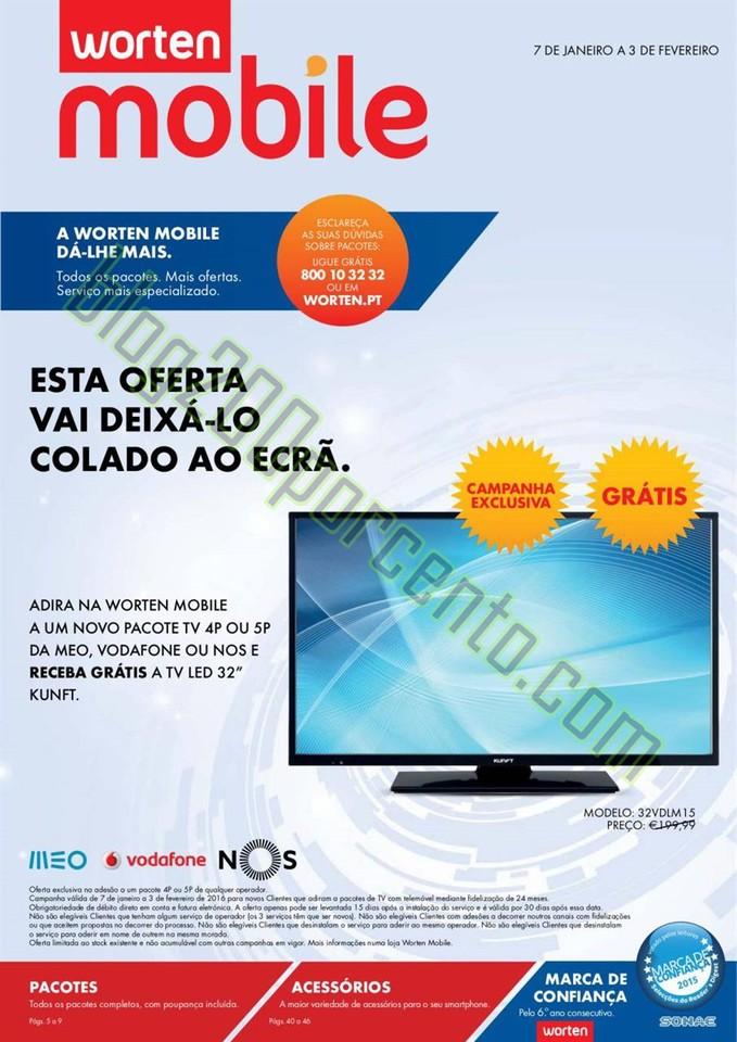 Novo Folheto WORTEN Mobile de 7 janeiro a 3 fevere