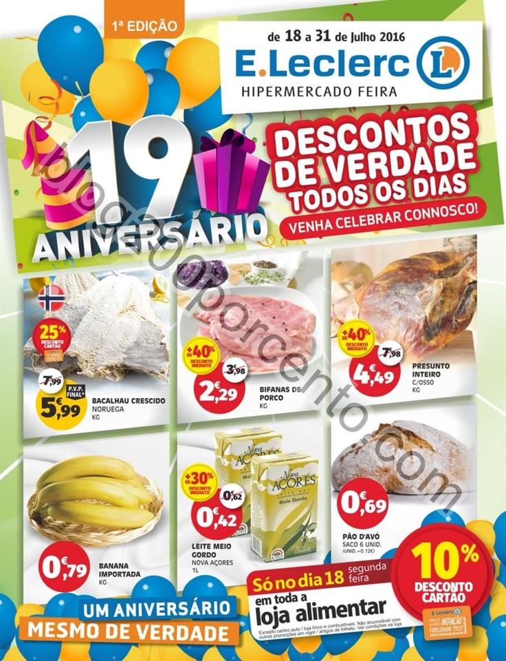 Antevisão Folheto E-LECLERC Aniversário Feira de