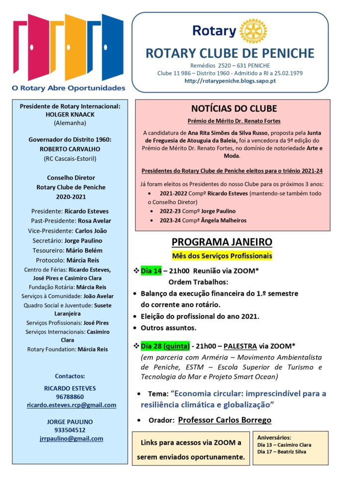 Programa de janeiro do Rotary Clube de Peniche[623