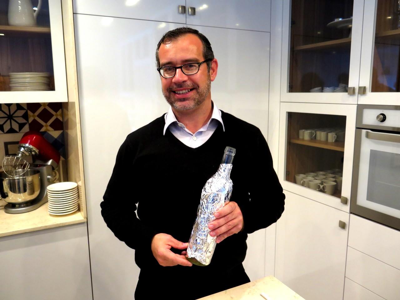 Manuel Moreira e a prova cega de um vinho branco