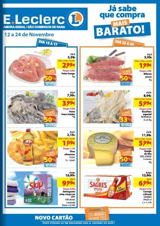 Antevisão folheto | E-LECLERC | S. Domingo de Rana de 12 a 24 novembro