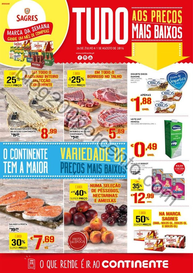 Antevisão Folheto CONTINENTE Promoções de 26 ju