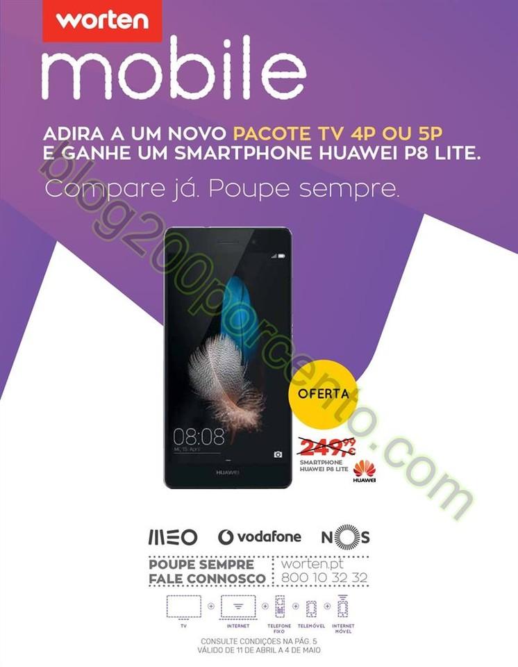 Antevisão Folheto WORTEN Mobile promoções de 11