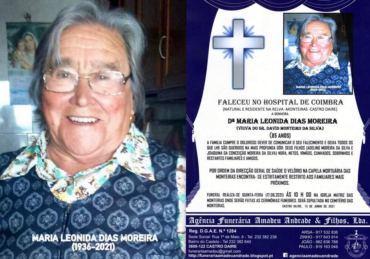 FOTO RIP DE MARIA LEONIDA DIAS MOREIRA-85 ANOS (MO