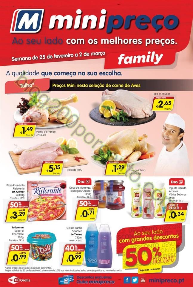 Antevisão Folheto MINIPREÇO Family de 25 feverei