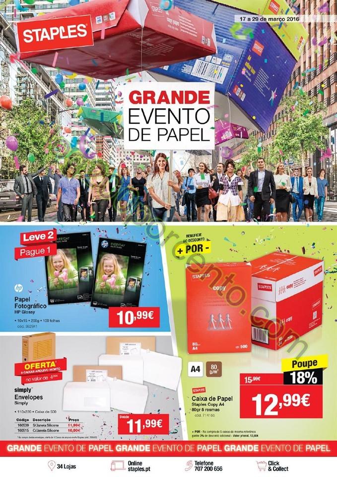 Antevisão Folheto STAPLES promoções de 17 a 29