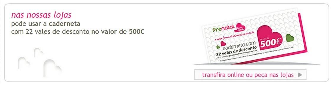 500€ em vales | PRÉNATAL | para imprimir