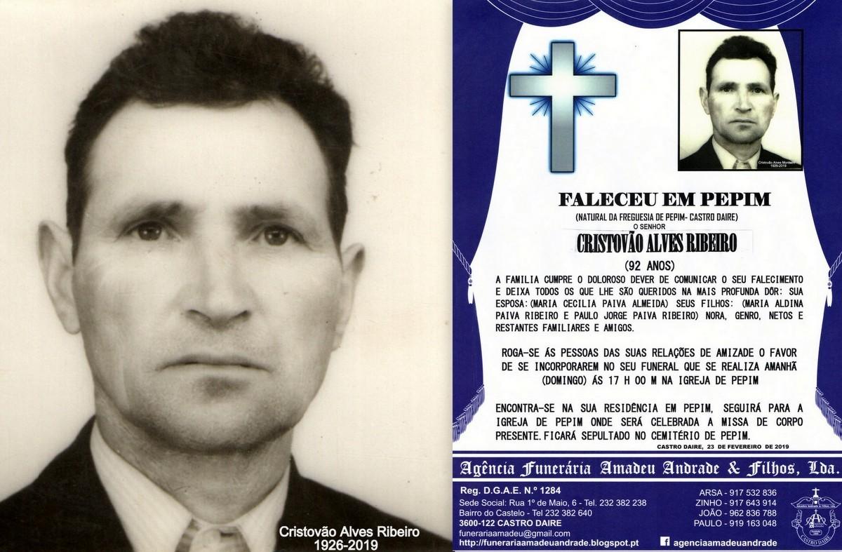 FOTO RIP DE CRISTOVÃO ALVES RIBEIRO-92 ANOS (PEPI