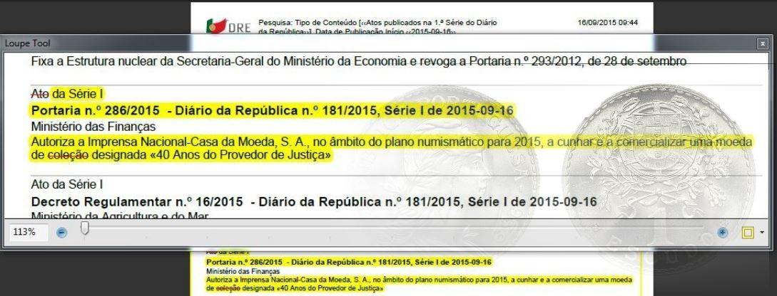Provedor de nada + Casa moeda de «culção»