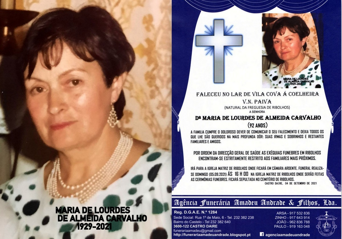 FOTO RIP DE MARIA DE LOURDES DE ALMEIDA CARVALHO-9