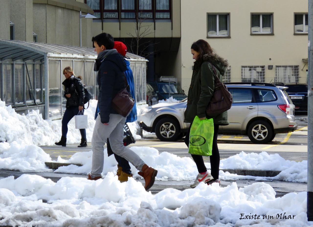 momentos na neve