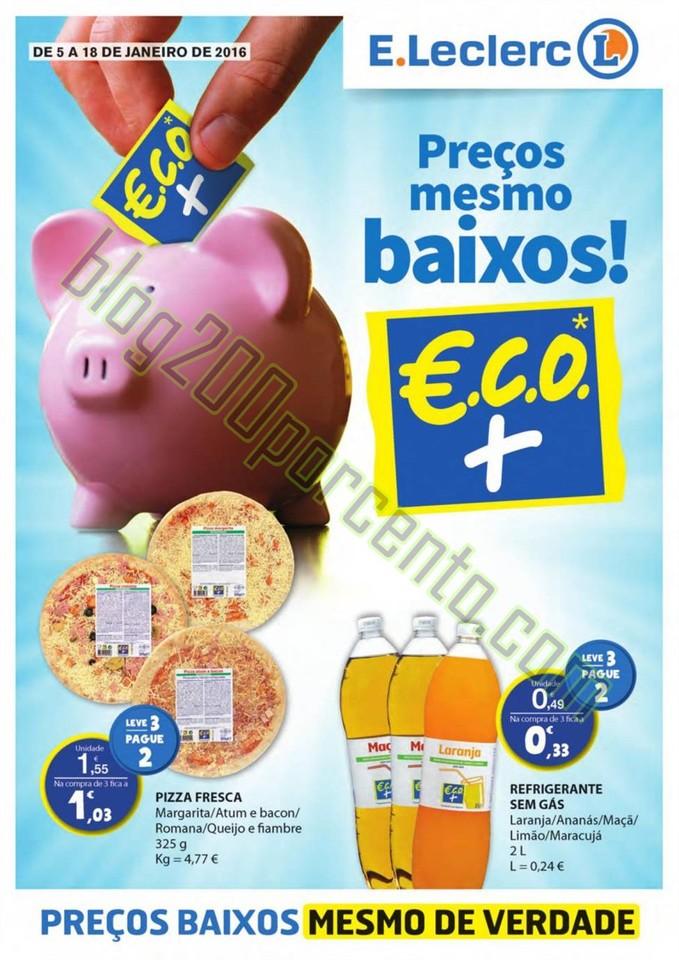 Antevisão Folheto E-LECLERC Extra de 5 a 18 janei