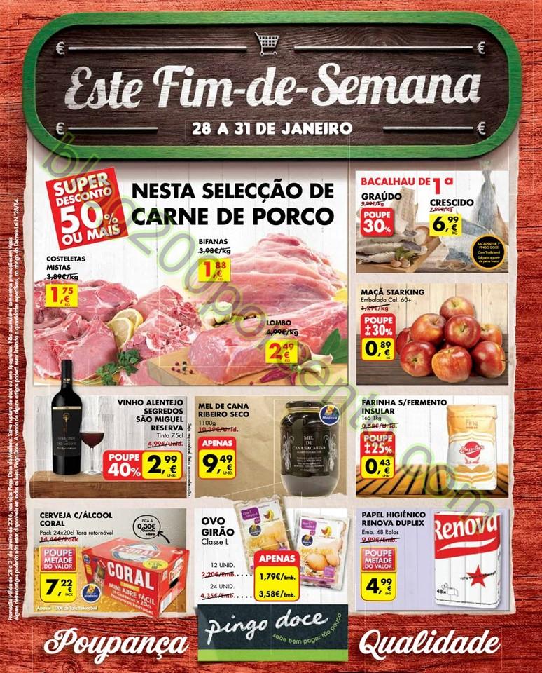 Novo folheto PINGO DOCE Fim de semana de 28 a 31 j