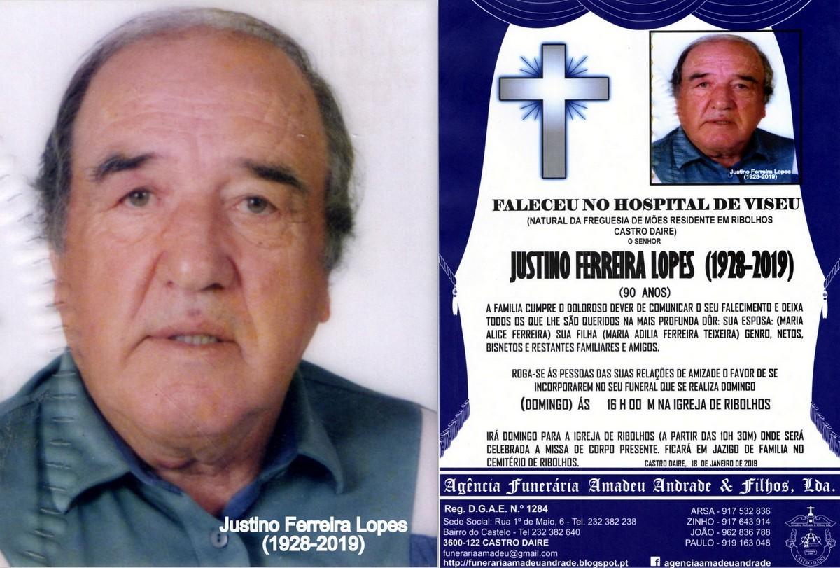 RIP FOTO DE JUSTINO FERREIRA LOPES -90 ANOS (RIBOL