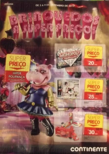 Novo Folheto   CONTINENTE   Brinquedos de 3 a 9 dezembro