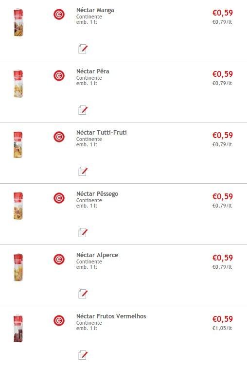 Super Preço   CONTINENTE   Nectar Continente 1 lt a 0,59€