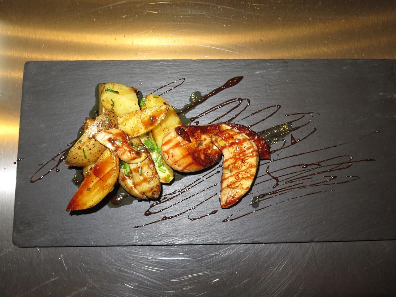 O prato de foie gras... finalizado