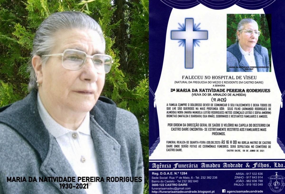 FOTO RIP DE MARIA DA NATIVIDADE PEREIRA RODRIGUES-