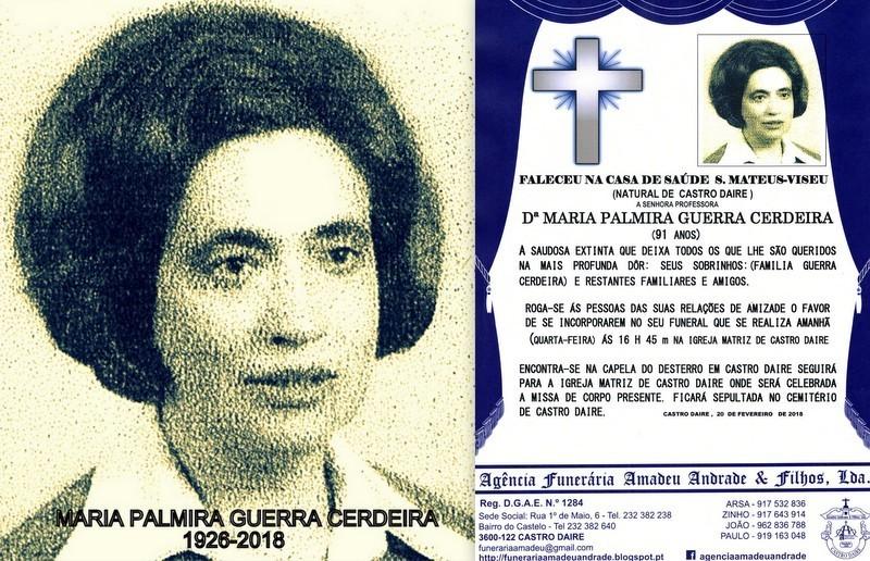 RIP-FOTO DE MARIA PALMIRA GUERRA CERDEIRA -91 ANOS