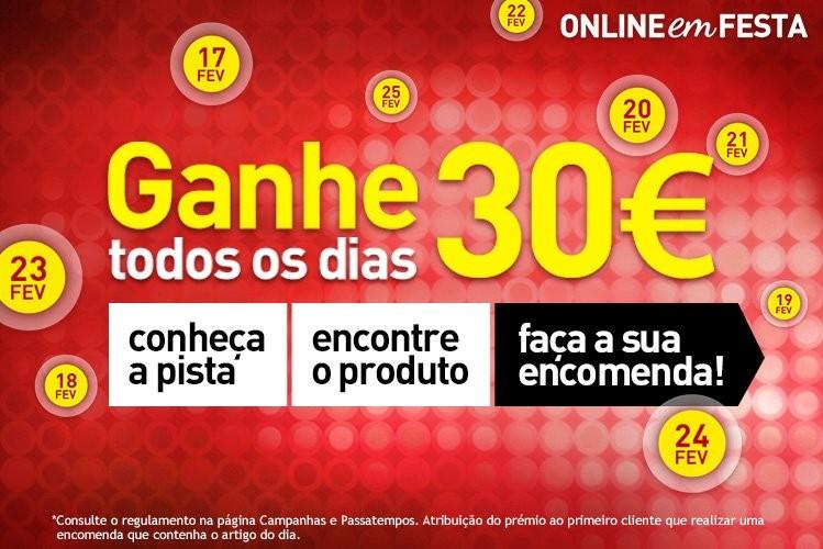 Online em festa | JUMBO | ganhe 30€ todos os dias
