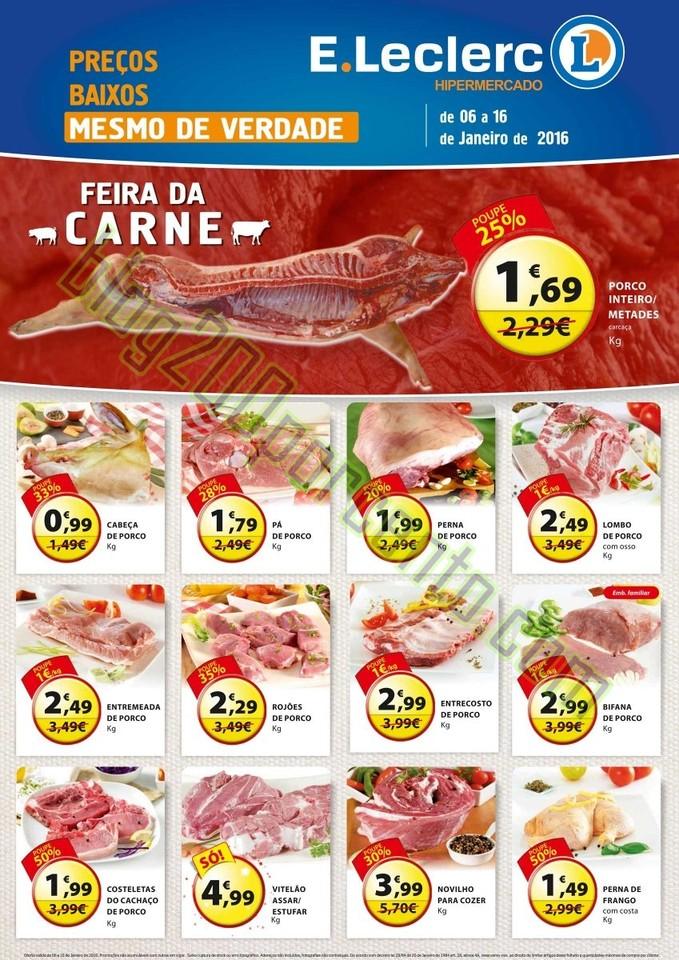 Novo Folheto E-LECLERC Chaves Extra talho até 16