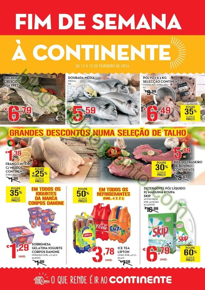 Antevisão Folheto CONTINENTE Fim de Semana de 12