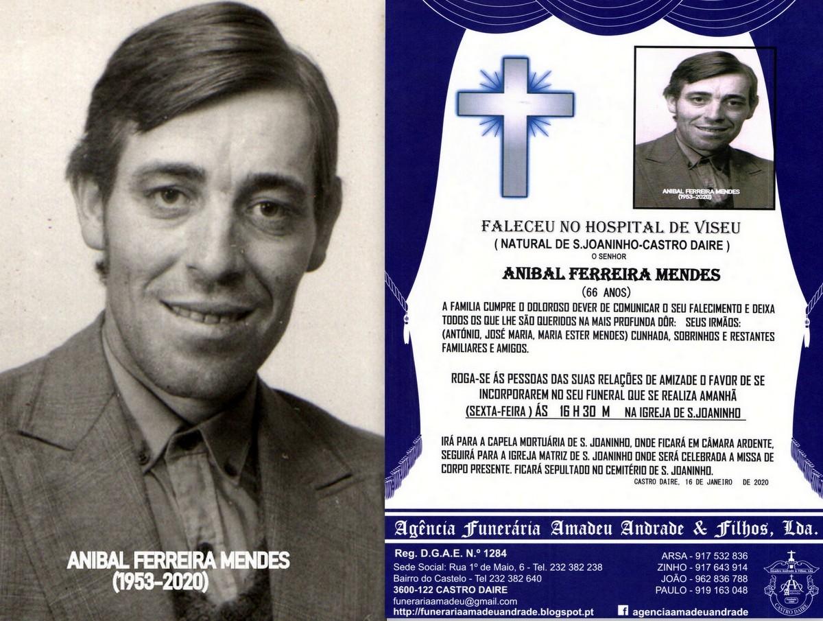 FOTO RIP  DE ANIBAL FERRREIRA MENDES-66 ANOS (S.jp